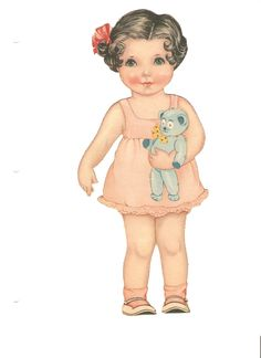 Polly Pepper 1939* 1500 paper dolls at International Paper Doll Society by artist Arielle Gabriel #ArtrA #QuanYin5 Linked In QuanYin5 Twitter *