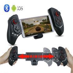 New PG-9023 Telescopic Wireless Bluetooth Game Controller Gamepad for iPhone