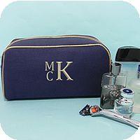 Men's Dopp Bag - Navy/Khaki