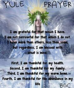 A Yule Prayer Of Thanks Thanks to ~az Better Gnomes & Cauldrons