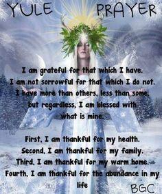 Yule Prayer -- Good all year round!
