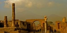 Take a day trip to the ruined city of Pompeii.