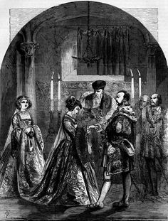 Marriage of Anne Boleyn to Henry VIII. It was a marriage that changed the world, but when was it? Read about the two proposed dates here: http://under-these-restless-skies.blogspot.com/2013/09/when-did-anne-boleyn-and-henry-viii.html