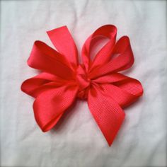 Solid Hot Pink Hair Bow by GoldenStitchBowtique on Etsy, $6.00