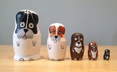 Custom Hand Painted Nesting Doll Dog/Cat/Pet Set - Might Could Studios