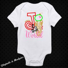 Joy To The World Christmas Bodysuit~Holiday Bodysuit~Baby Bodysuit~Girl And Boy Christmas Bodysuit~Christmas Gift by PigtailsAndMudpies1 on Etsy