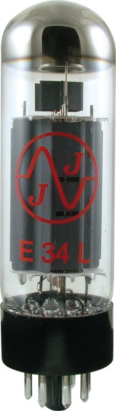 JJ E34L--Octal power tube (Max Plate Watts = 25W) The E34L has a slightly higher grid voltage rating (-13.5 to-16.5 vs -10 to -13.5 volts) than the traditional EL34 vacuum tube. For the same idle plate current value, the E34L is typically biased with a more negative grid voltage than the EL34. This allows the E34L to offer more headroom (later breakup) than the traditional EL34