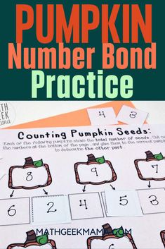 Looking for a fun way to help your kids practice number bonds to ten? This set of pumpkin-themed cut and paste pages is just the thing. Perfect for Fall, kids will love completing the number bonds by gluing in the correct numbers!  #backtoschool #numberbonds #elementarymath #homeschool Fun Math Activities, Educational Activities For Kids, Math Resources, Free Printable Math Worksheets, Kindergarten Math Worksheets, Free Printables, Homeschool Math, Homeschooling, Teaching Addition