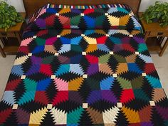 Pineapple Quilt -- gorgeous meticulously made Amish Quilts from Lancaster (hs5704)