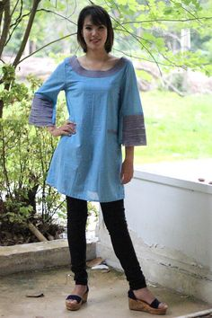 SALE 30%M215 Corner of love  Blouse by giftbywish on Etsy