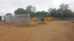 120m of Palisade Fencing to create a secure compound.