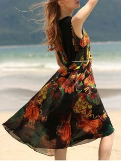 GET $50 NOW | Join RoseGal: Get YOUR $50 NOW!http://www.rosegal.com/print-dresses/vintage-style-u-neck-sleeveless-414786.html?seid=dqfshcjimk946743s4t8gv97o4rg414786