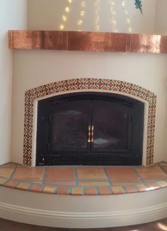 Images Pictures and ideas for Mexican Style Fireplaces Mexican Tile Designs Fireplace Gallery Adobe Fireplace, Fireplace Tile Surround, Fireplace Mantle, Fireplace Surrounds, Fireplace Design, Fireplace Ideas, Fireplace Gallery, Mexican Home Decor, Mexican Style Homes