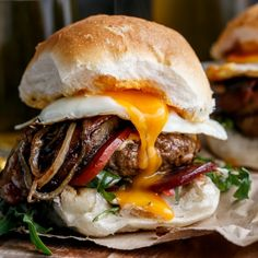 Drunken Aussie Beef Burgers spiked with beer complete with a runny egg and crispy bacon will have you saying G'day Mayte!