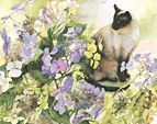 Nancy Tichborne, renowned for her exquisite watercolours.