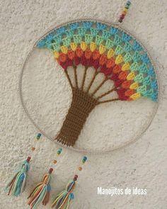 Crochet Rings, Love Crochet, Crochet Necklace, Crochet Wall Art, Crochet Home Decor, Crochet Furniture, Crochet Stitches, Crochet Patterns, Crochet Dreamcatcher