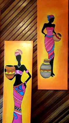 Coffee Painting Canvas, Texture Painting On Canvas, Fabric Painting, Canvas Art, Dancing Drawings, Art Drawings, Afrique Art, African Art Paintings, Art Corner