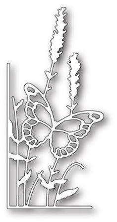 Memory Box Die - Lavender Butterfly Left Corner- Craft Die