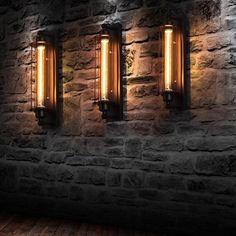 Industrial Wall Light Industrial Wall Lights, Industrial Light Fixtures, Vintage Industrial Furniture, Warm Industrial, Industrial Style Lighting, Industrial Basement Bar, Industrial Bedroom Design, Industrial Shop, Industrial Interiors