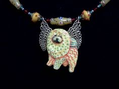Chow Chow Fairy pendant. Original.   Owned and curated by The Pendragwn Group
