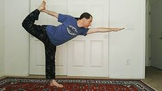 Some Dandayamana-dhanursana for your day! Standing bow pose  #vegasyogi #yoga #homePractice #yogalife #joy #healing