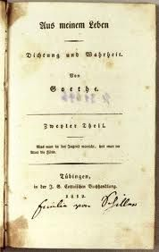 Goethe Dichtung und Wahrheit