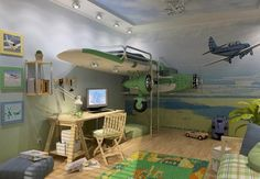 15 Cool Airplane Themed Bedroom Ideas for Boys - Rilane
