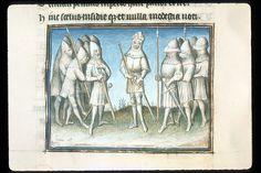 Publius Papinius Statius Thebais , with the argumenta antiqua; Achilleis, Francja, ok. 1405, f48