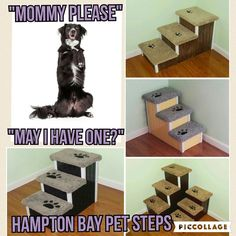 PREVENT PET INJURY with Hampton Bay Pet Steps #dogstairs #petstairs #doggysteps