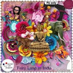 Le Blog de kittyscrap: EUROSCRAP  : FAIRY LAND IN INDIA