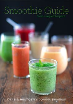 Smoothie Guide  http://simpleblueprint.typepad.com  #smoothies #health #nutrition #fitness