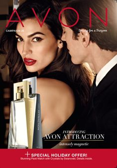 Avon Campaign 26 brochure featuring #AvonAttraction EDP Spray for Her & EDT Spray for Him! #fragrance #perfume