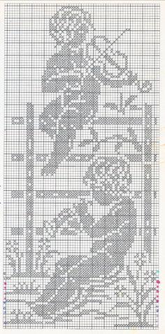 Risultato immagine per Filet Crochet Angel Patterns Cross Stitch Angels, Cross Stitch Art, Cross Stitch Designs, Cross Stitch Embroidery, Crochet Angel Pattern, Crochet Angels, Crochet Blanket Patterns, Filet Crochet Charts, Crochet Diagram
