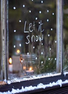 Use a chalk marker to decorate your windows for Christmas.