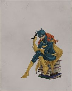 commission- Batgirl by =belatime  I'm enamored with Batgirl and books pieces.