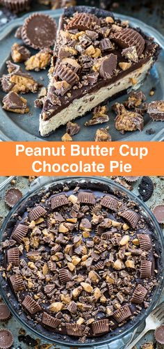 Peanut Butter Cup Pie Peanut Butter Cup Pie The BEST no bake peanut butter cup chocolate pie! Oreo crust, creamy peanut butter filling, chocolate ganache all LOADED with peanut butter cups! Peanut Butter Ice Cream, Peanut Butter Filling, Peanut Butter Desserts, Peanut Butter Cup Pie Recipe, Mini Desserts, Just Desserts, Delicious Desserts, Best Chocolate Desserts, Oreo Desserts