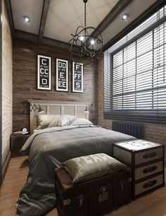22 Bachelor\'s Pad Bedrooms for Young Energetic Men | Wood beds ...