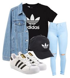 """Untitled #173"" by kingrabia on Polyvore featuring adidas Originals, Gap and adidas"