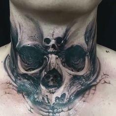 As Melhores Tattoos de Pet diy tattoo images Best Neck Tattoos, Latest Tattoos, 3d Tattoos, Badass Tattoos, Skull Tattoos, Finger Tattoos, Body Art Tattoos, Sleeve Tattoos, Kneck Tattoos