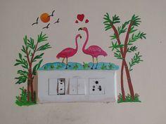 Diy Wall Art, Diy Wall Decor, Home Decor Wall Art, Bedroom Wall Designs, Wall Art Designs, Paint Designs, Kids Room Murals, Bedroom Murals, Home Wall Painting