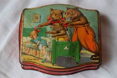 Vintage George Horner Goldilocks and The Three Bears Tin Box Early 1900's Dainty…