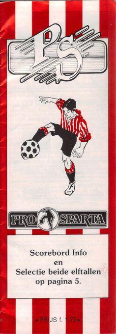 Programma boekje 1983/84 Sparta Rotterdam