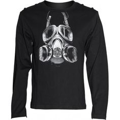 Gothic gas mask longsleeve top by QUeen of Darkness