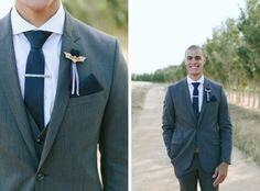 Batman groom brooch