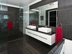 Badeeinrichtung Ideen - Wand In Grau Und Weiße Toilette - 77 ... Badezimmer Fliesen Ideen Grau