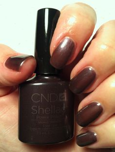 CND Shellac New fall color Vexed Violette. Cnd Shellac Colors, Shellac Gel Polish, Nail Salons, Brown Nails, Beauty Ideas, Acrylics, Girly Things, Hair And Nails, Fashion Beauty
