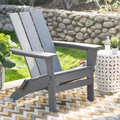 Outdoor Exclusive! POLYWOOD® Modern Folding Adirondack Chair
