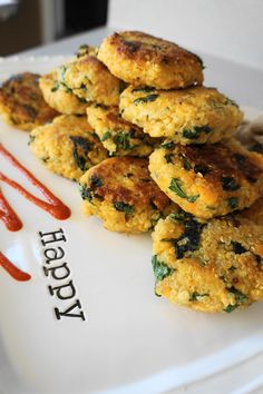 Sweet Potato and Kale Quinoa Cakes with Ginger Yogurt Sauce (V, GF) | Busy Girl Healthy World