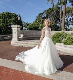 alessandra rinaudo 2017 bridal cap sleeves illusion bateau deep plunging v neck heavily embellished bodice princess romantic a  ling wedding dress illusion back royal train (2) mv