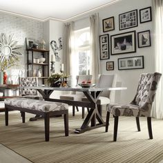 SIGNAL HILLS Trumbull Stainless Steel Dining Table
